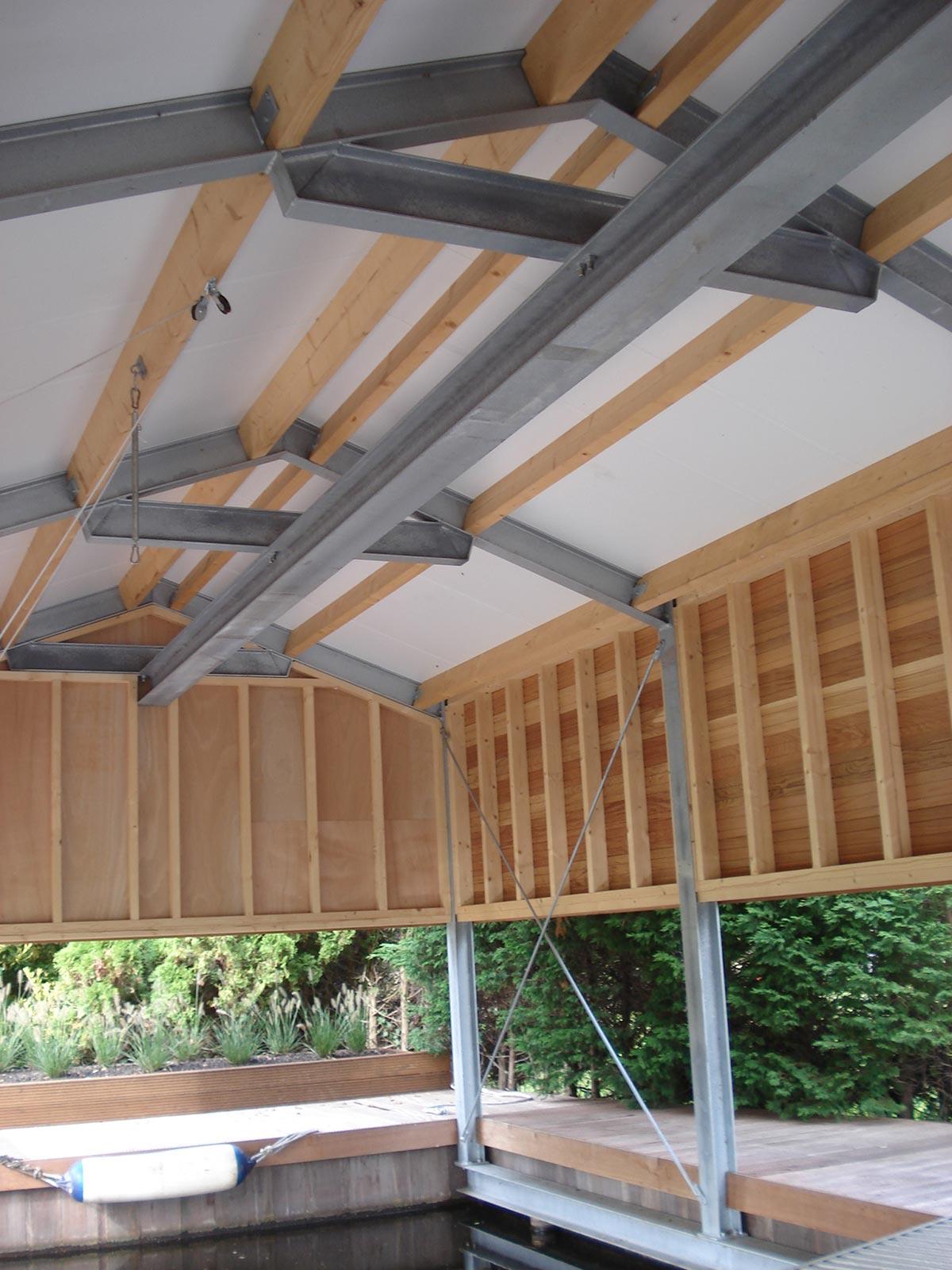 van der Meulen Metaalbewerking - Stalen constructie voor een botenhuis